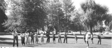 Golf class on Old Main Hill (College Hill), 1958