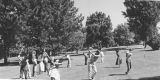 Golf class on Old Main Hill (College Hill), 1960s