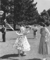 Students participating in golf class, 1950s