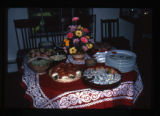Japanese food, Utah, 1990: Variety plate of celebratory food