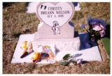 Christy Breann Nielson gravemarker and decorations, Logan, Utah, 1999 (1 of 2).