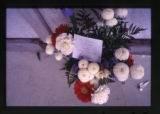 Floral arrangement in Hollywood cemetery, Los Angeles, California, 2002