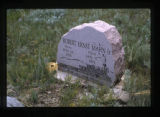 Grave marker near the South Fork of the Shoshone River close to Cody, Wyoming, 1997 (7 of 16)
