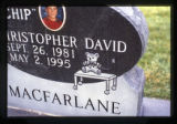 Christopher David Macfarlane grave marker, Ephraim, Utah, 1999 (2 of 5)