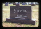 Severson headstone, Astoria, Oregon, 1982 (1 of 11)
