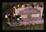Louise Mary Maurer and Arthur L. Maurer grave marker, Logan, Utah, 1999 (2 of 2)