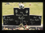 Keller triple person headstone, Cody, Wyoming, 1997