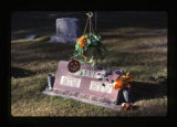 Alfred and Christina Otte grave marker and decorations, Logan, Utah, 1999