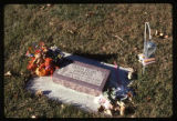 Olivia Pearl Andersen headstone and grave decorations, Logan, Utah, 1999 (1 of 2)