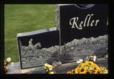 Denver Keller grave marker with a soccer ball in Cody, Wyoming, 1997