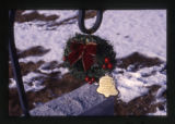 Wreath and bell grave decorations,Providence Cemetery, Utah, 2000