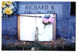 Richard K. Howells gravemarker with open book, Logan, Utah, 1999 (2 of 2)
