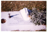 Charles H. Faulkner Jr. gravemarker with cowboy hat, Logan, Utah, 1999 (4 of 4)