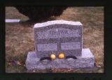 Japanese grave marker decorated with fruit in Ogden, Utah, 2000