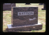 Mattson grave marker, Astoria, Oregon, 1982