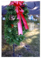 Pine bough wreath and bonnet wind chimes, Logan, Utah, 1999
