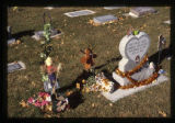 Gabriel Velazquez gravemarker with fall decorations, Logan, Utah, 1999 (1 of 2)