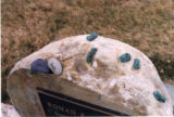 Roman grave marker and grave decorations, Salt Lake City, Utah, 2000