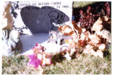 Samuel Robinson heastone and grave decorations, backside, Logan, Utah, 1999 (2)