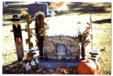 Dustin Michael Daniels gravemarker and fall decorations, front view, Logan, Utah, 1999 (2 of 2)