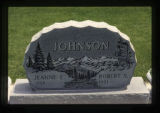 Jeanne Johnson and Robert S. Johnson grave marker, Cody, Wyoming, 1997 (1 of 2)