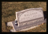 Ralph Clark Maughan and Bessie Allen Maughan grave marker, Logan, Utah, 1999