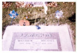 Matthew  and Michael Lambson grave marker, Logan, Utah, 1999