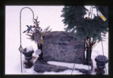 Dustin Michael Daniels gravemarker and Winter decorations, Logan, Utah, 2000 (1 of 2)
