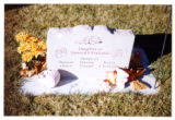 Child's heart-shaped grave marker in Logan, Utah, 1999