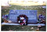 Yeates grave marker decorated with a Santa Clause doll in Logan, Utah, 1999