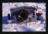 Fuhriman grave marker decorated for Christmas in Logan, Utah, 2000