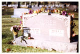 Louise Mary Maurer and Arthur L. Maurer grave marker, Logan, Utah, 1999 (1 of 2)