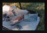 Abigail Judd Bisop grave decorations, Salt Lake City, Utah, 2000