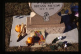 Christy Breann Nielson gravemarker and decorations, Logan, Utah, 1999 (2 of 2).