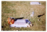 Olivia Pearl Andersen headstone and grave decorations, Logan, Utah, 1999 (2 of 2)