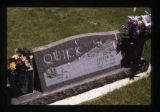Lester Quick headstone and flowers, Cody, Wyoming, 1997