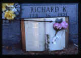 Richard K. Howells gravemarker with open book, Logan, Utah, 1999 (1 of 2)
