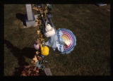 Thinking of you balloon near grave marker, Logan, Utah, 1999 (1 of 2)