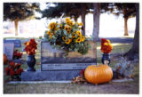 Ronald and Patty Marie Speth headstone, decorated for fall, Logan, Utah, 1999 (1 of 2)