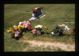 Grave decorating on a new grave in Cody, Wyoming, 1997 (44 of 64)