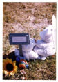 Temporary grave marker with two teddy bears, Logan, Utah, 1999 (3 of 3)