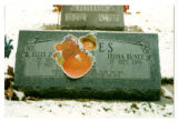 Ellis Johnson Yeates and Dora Leona Bunce Yeates grave marker in Logan, Utah, 1999