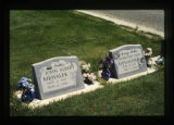 John and Dorothy May Mehalek grave markers in Cody, Wyoming, 1997