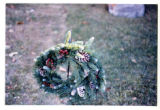 Circular wreath with pine boughs and berries, Logan, Utah, 1999