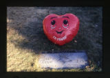 "Linda and Griff Larson headstone and ""I'm Yours"" balloon, Salt Lake City, Utah, 2000"