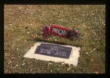 "Grave marker with ""Mom"" wreath in Ephraim, Utah, 1999"