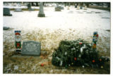 Teresa Dawn Gillespie headstone and Christmas decorations, Logan, Utah, 1999