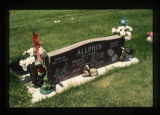 Evelyn Scott Allphin and Alva Dodd Allphin grave marker, Cody, Wyoming, 1997