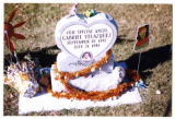 Gabriel Velazquez gravemarker with fall decorations, Logan, Utah, 1999 (2 of 2)