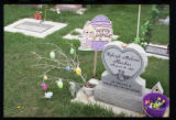 Kyleigh Maliene Ruedas gravemarker and Easter decorations, Logan, Utah, 2000 (2 of 2)
